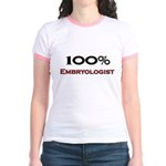 100 Percent Embryologist Jr. Ringer T-Shirt
