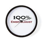 100 Percent Embryologist Wall Clock