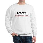 100 Percent Embryologist Sweatshirt