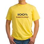 100 Percent Embryologist Yellow T-Shirt
