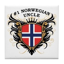 Number One Norwegian Uncle Tile Coaster