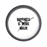 Happiness is being Malik Wall Clock