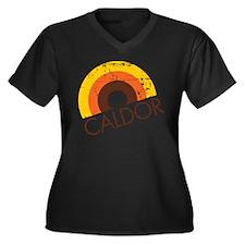 Caldor Disount Bin Women's Plus Size V-Neck Dark T