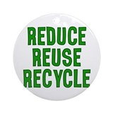 Reduce, Reuse, Recycle Ornament (Round)
