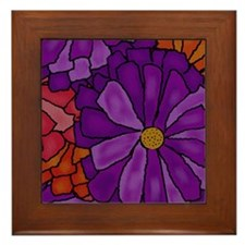 Gerber Daisy Bouquet Framed Tile