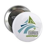 Rainbow Warrior 20th Anniversary Button