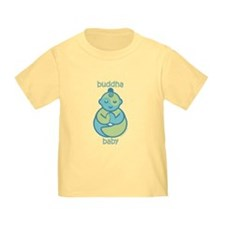 Happy Buddha Baby : Blue & Green T