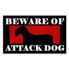 Beware of Attack Dog Sealyham Terrier Decal