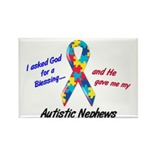 Blessing 3 (Autistic Nephews) Rectangle Magnet (10