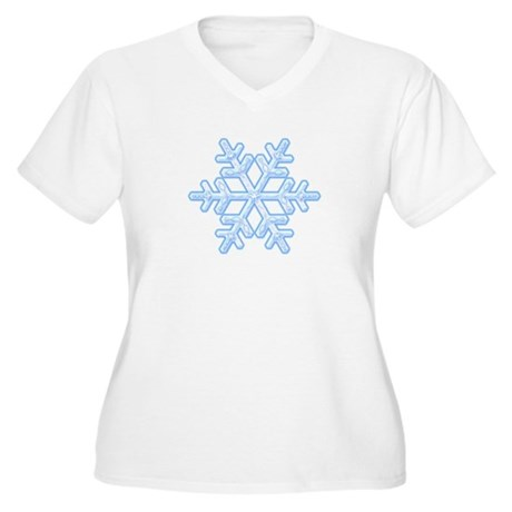 Flurry Snowflake XVIII Women's Plus Size V-Neck T-