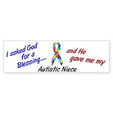 Blessing 3 (Autistic Niece) Bumper Bumper Sticker