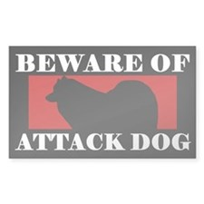 Beware of Attack Dog Samoyed Decal