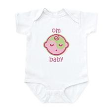 Om Baby : Pink & Green Infant Bodysuit