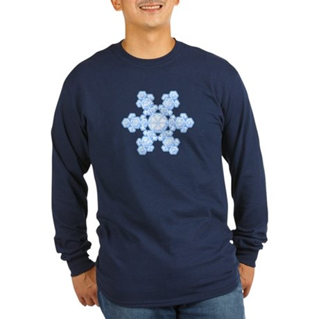 Flurry Snowflake XVII Long Sleeve Dark T-Shirt
