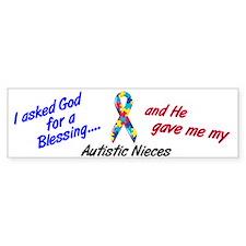 Blessing 3 (Autistic Nieces) Bumper Bumper Sticker