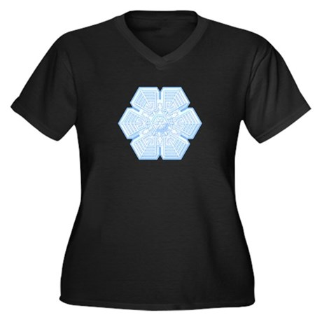 Flurry Snowflake XVI Women's Plus Size V-Neck Dark