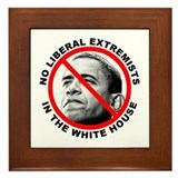 Anti-Obama Anti-Liberal Framed Tile