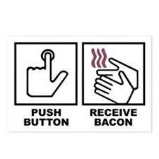 Push Button Receive Bacon Postcards (Package of 8)