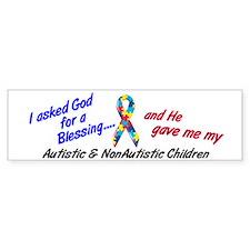 Blessing 3 (Autistic/NonAutistic Children) Bumper Sticker