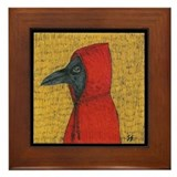 Hooded Crow Framed Tile