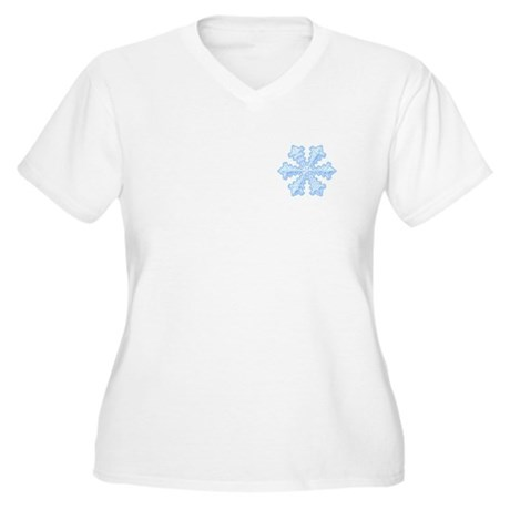 Flurry Snowflake XIII Women's Plus Size V-Neck T-S