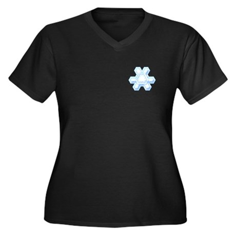 Flurry Snowflake XII Women's Plus Size V-Neck Dark