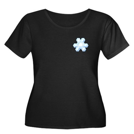 Flurry Snowflake XII Women's Plus Size Scoop Neck