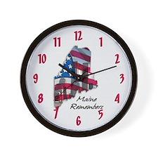 Maine Remembers ~ Wall Clock