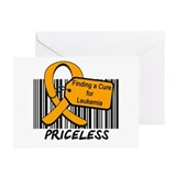 Leukemia Cure Priceless Greeting Cards (Pk of 10)