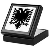 Black Albanian Double Headed Keepsake Box