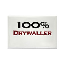 100 Percent Drywaller Rectangle Magnet (10 pack)