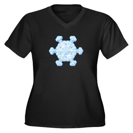 Flurry Snowflake XI Women's Plus Size V-Neck Dark