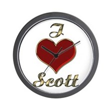 Cute I love scott Wall Clock