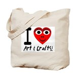 I (Heart) Art & Crafts Tote Bag