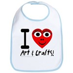I (Heart) Art & Crafts Bib