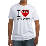 I (Heart) Art & Crafts Fitted T-Shirt