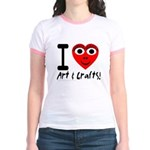 I (Heart) Art & Crafts Jr. Ringer T-Shirt