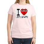 I (Heart) Art & Crafts Women's Pink T-Shirt