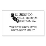 El Segundo... Rectangle Decal