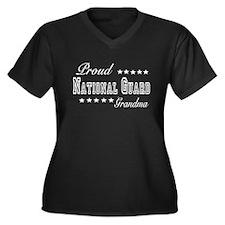 Proud National Guard Grandma Women's Plus Size V-N