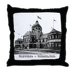 Coal Palace Throw Pillow