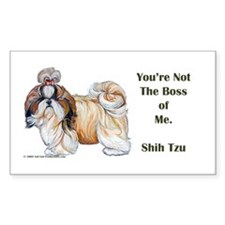Shih Tzu is Boss Decal