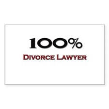 100 Percent Divorce Lawyer Rectangle Decal