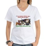 CanineCancerAwareness Women's V-Neck T-Shirt
