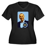 Barack Obama Hope Women's Plus Size V-Neck Dark T-