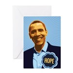 Barack Obama Hope Greeting Card