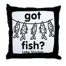 got Fish Throw Pillow