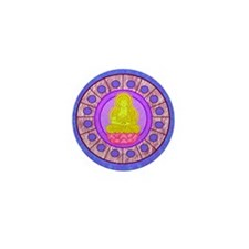 Meditating Buddha Mini Button