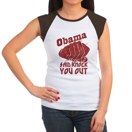 Obama Knock You Out Womens Cap Sleeve T-Shirt