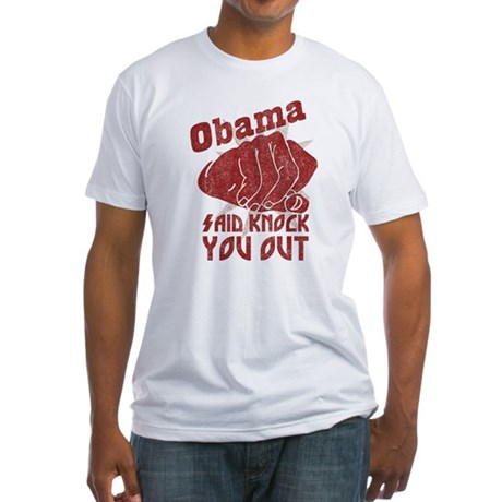 Obama Knock You Out Fitted T-Shirt